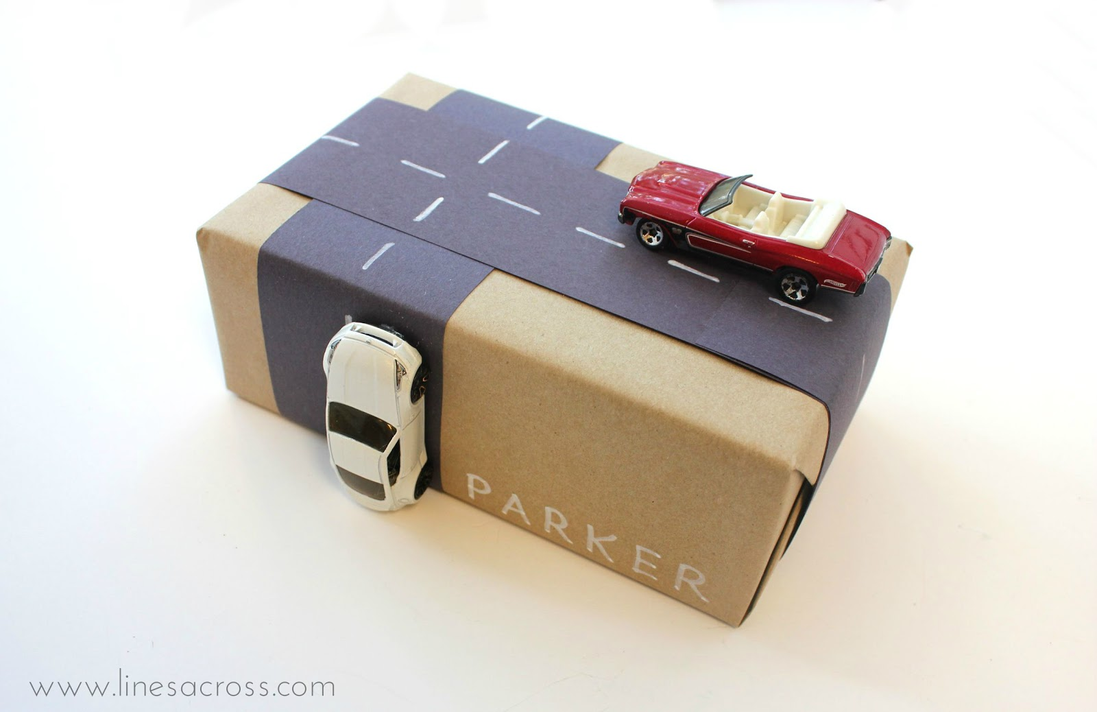 Gift wrapping 2 creative gift wrapping kids cars and road 2 negle Images